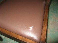画像1: ■施工例■ 店舗用椅子・チェアの切り傷修理 (1)